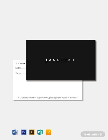 Free Minimalistic Appointment Card Template