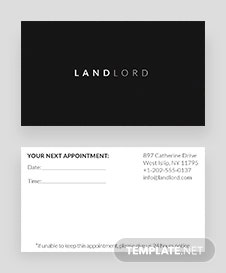 Minimalistic Appointment Card Template