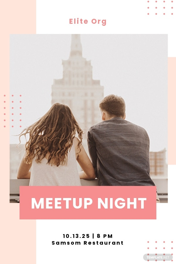 Free Meetup Event Pinterest Pin Template