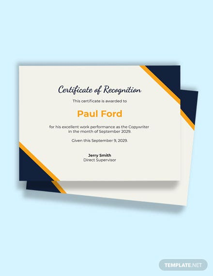 Free Work Certificate Template