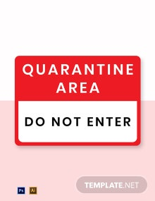 Quarantine Do Not Enter Label Template