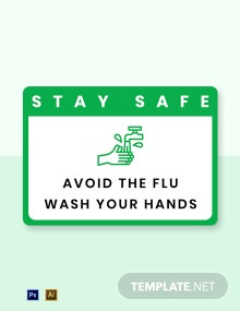 Avoid the Flu Wash Your Hands Label Template