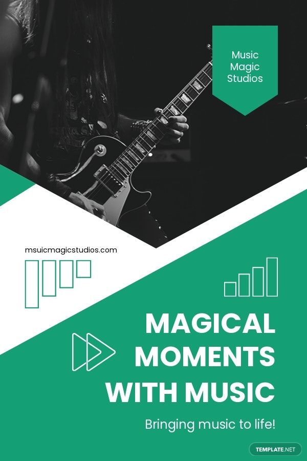 Music Production Pinterest Pin Template