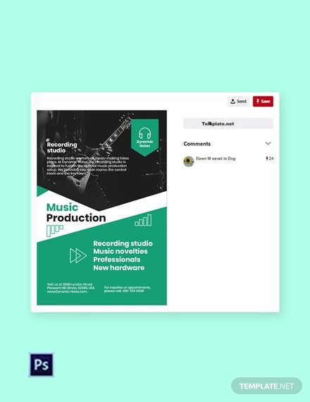 Free Music Production Pinterest Pin Template