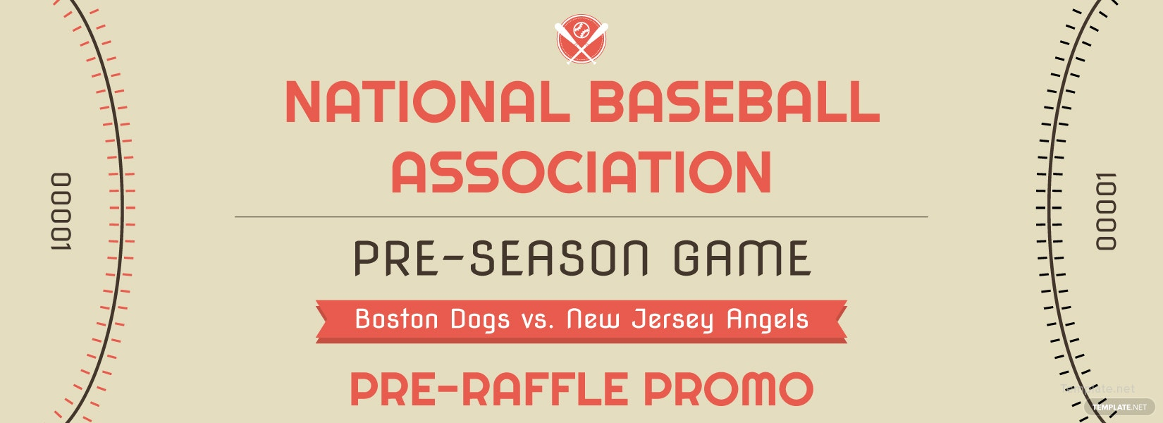 free baseball raffle ticket template in adobe photoshop