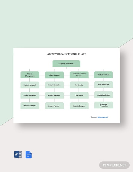 Free Simple Agency Organizational Chart Template