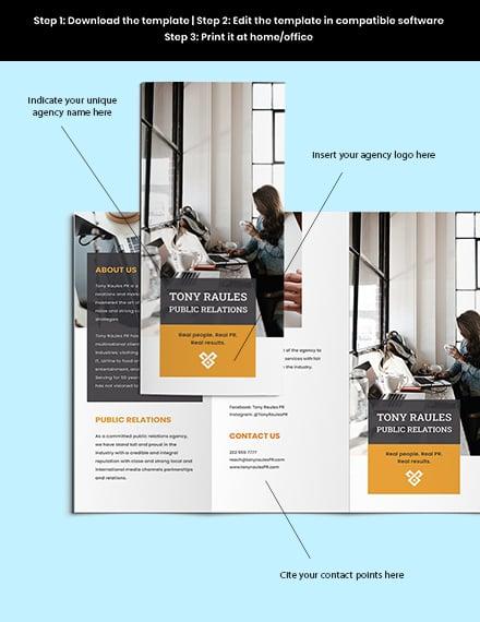 Trifold Business Agency Brochure Editable
