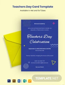 Free Teachers Day Card Template