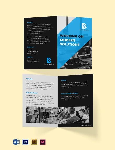 Free Bi-fold Simple Agency Brochure