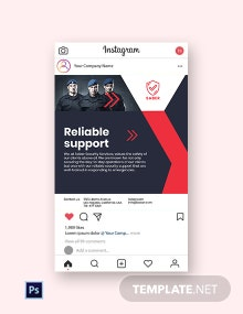 Free Security Guard Services Instagram Post Template