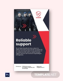 Free Security Guard Services Instagram Story Template