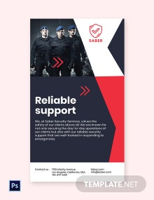 Free Security Guard Services Whatsapp Template