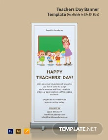 Free Teachers Day Banner Template