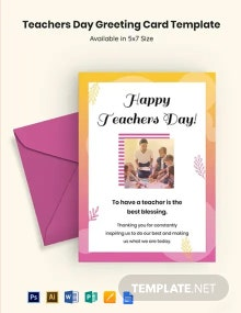 Free Teachers Day Greeting Card Template