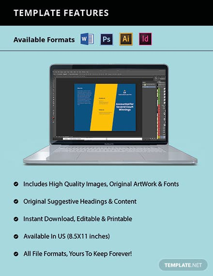 Agency Trifold Firm Brochure Template Format