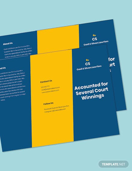 Agency Trifold Firm Brochure Template Printable