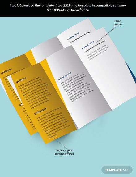 Agency Trifold Firm Brochure Template Snippet