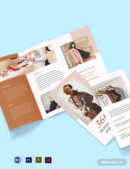 Free Trifold agency brochure template