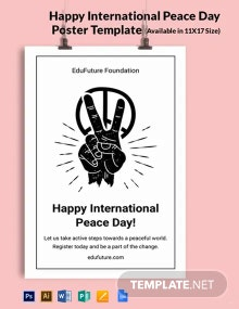 Happy International Peace Day Poster Template