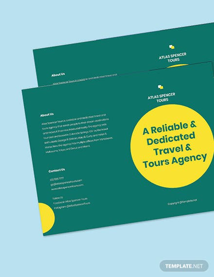 Free Sample BiFold Agency Brochure Template Printable