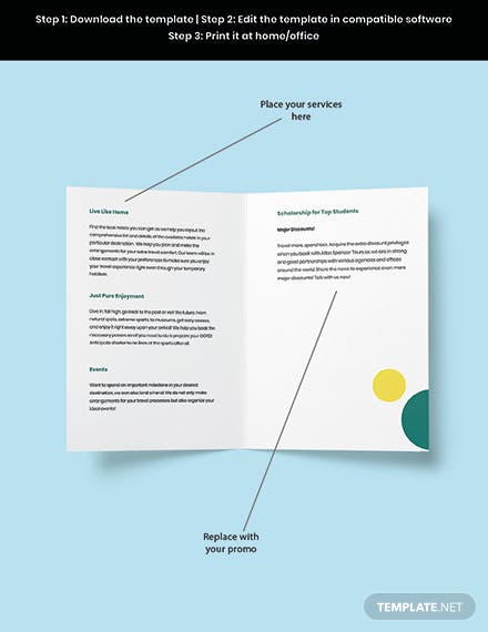 Free Sample BiFold Agency Brochure Template Snippet