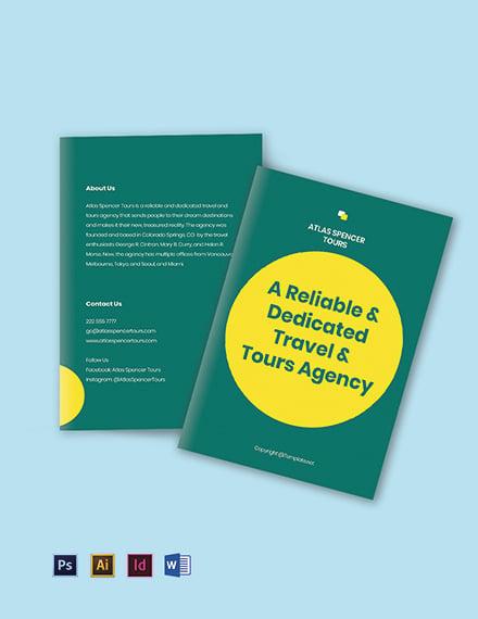 Free Sample BiFold Agency Brochure Template