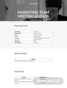 Free Simple Meeting Agenda Template