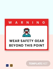 Free Wear Safety Gear Beyond This Point Label Template