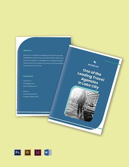 Startup Agency Bifold Brochure Template