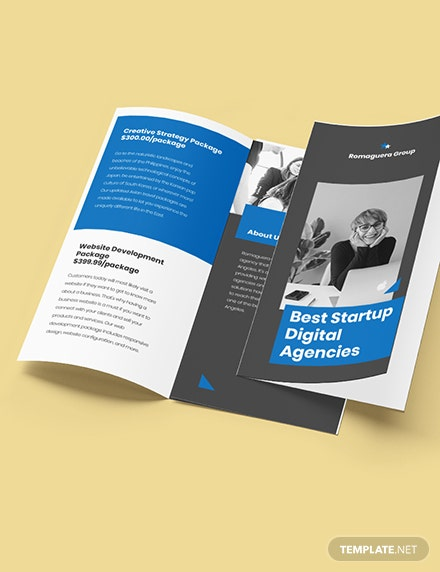 StartUp Agency TriFold Brochure Printable