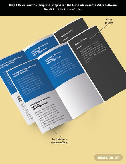 StartUp Agency TriFold Brochure Snippet