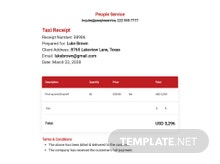 Free Taxi Receipt Template