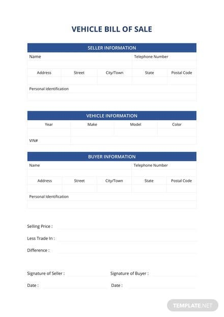 used car bill of sale template in microsoft word template net