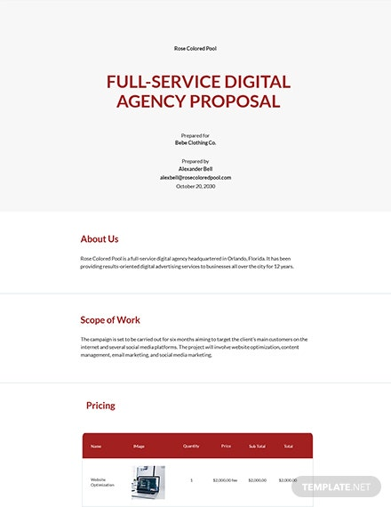 Full Service Digital Agency Proposal Template