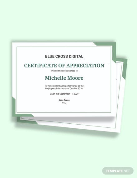 Free Modern Employee of the Month Certificate Template
