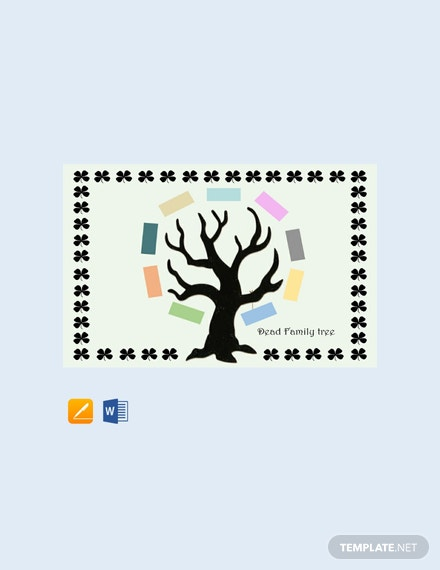 Dead Family Tree Template  - Word, Apple Pages