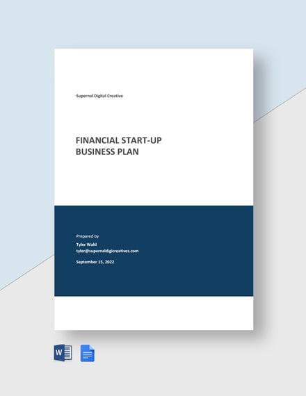 Financial Startup Business Plan Template
