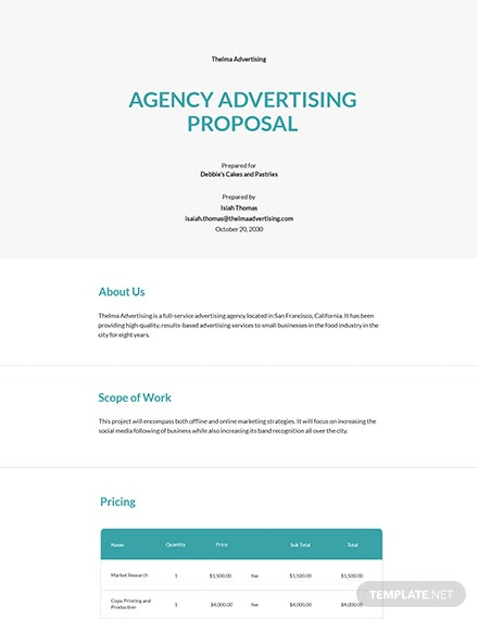 Agency Advertising Proposal Template