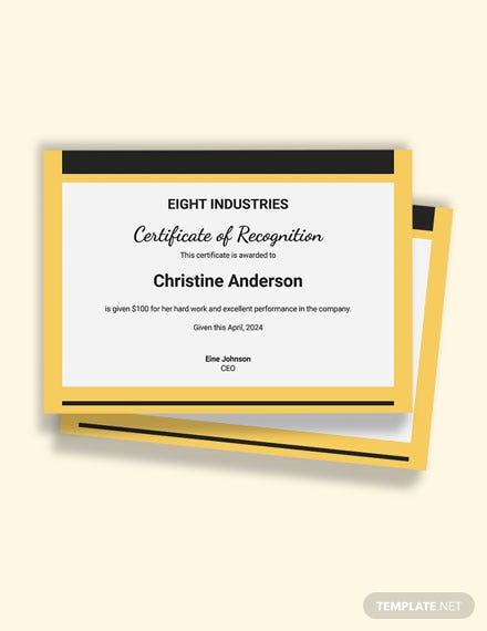 Free Rewards and Recognition Certificate Template