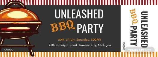 Free BBQ Raffle Ticket Template