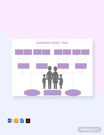 Reunion Family Tree Template [Free PDF] - Word, Apple Pages