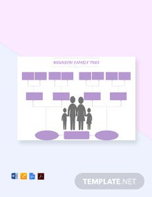 Free Reunion Family Tree Template
