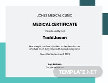 Doctor Medical Certificate Template