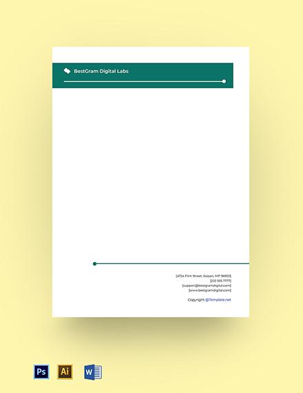 Digital Agency Editable Letterhead Template