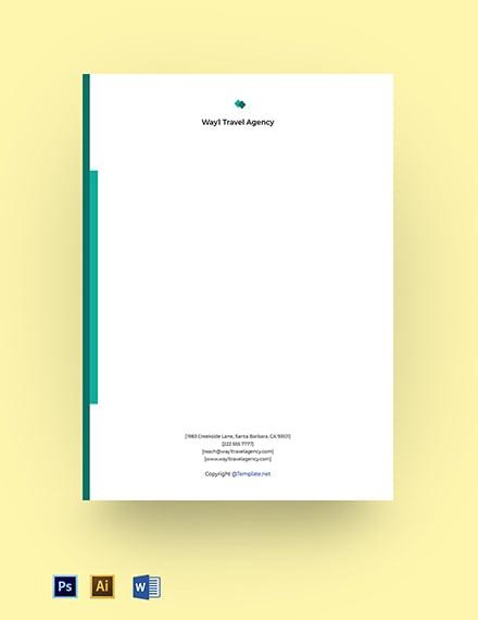 Modern Agency Editable Letterhead Template