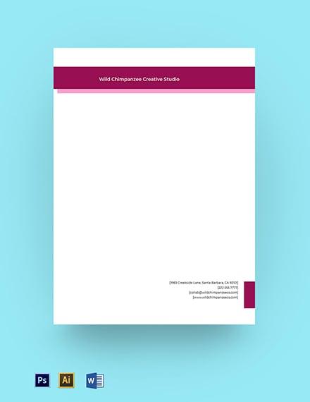Creative Agency Business Letterhead Template