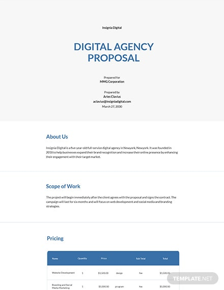 Professional Digital Agency Proposal Template