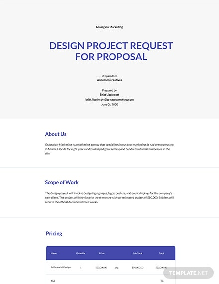 Agency Request for Proposal Template