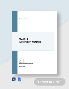 Startup Investment Analysis Template
