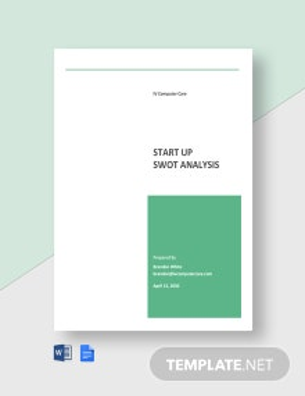 Startup SWOT Analysis Template
